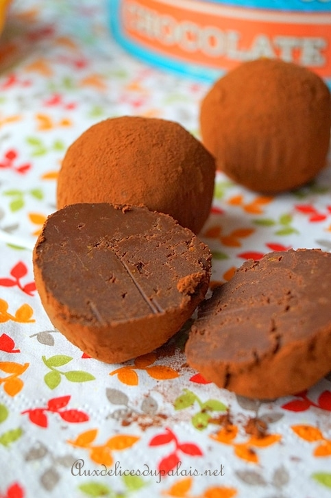 truffe chocolat orange confite