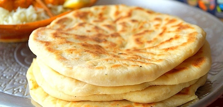 Cheese naan pain indien au fromage
