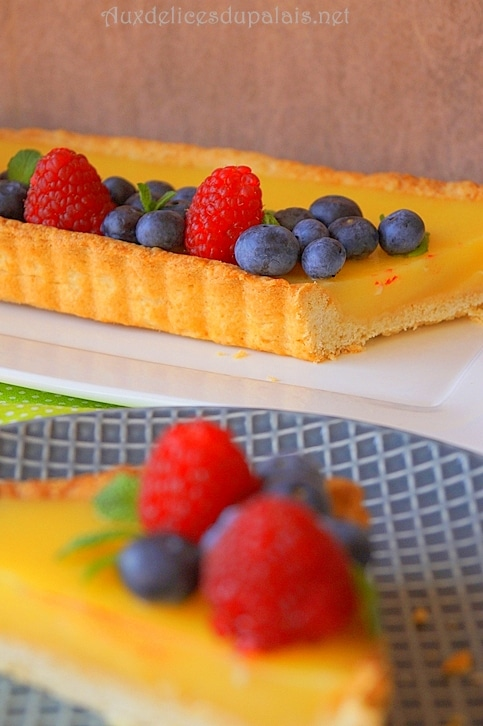 Tarte au citron et fruits rouges facile