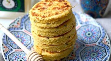 Harcha marocaine, recette galette de semoule